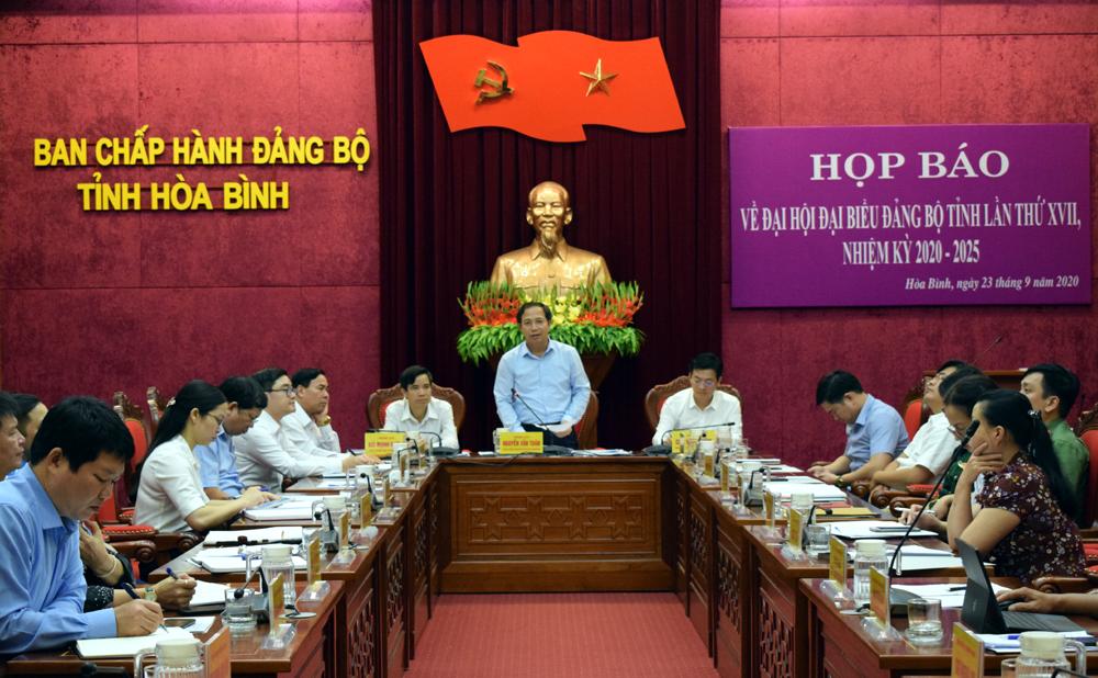 Đại hội đại biểu Đảng bộ tỉnh Hòa Bình lần thứ XVII diễn ra từ ngày 1 - 3 10