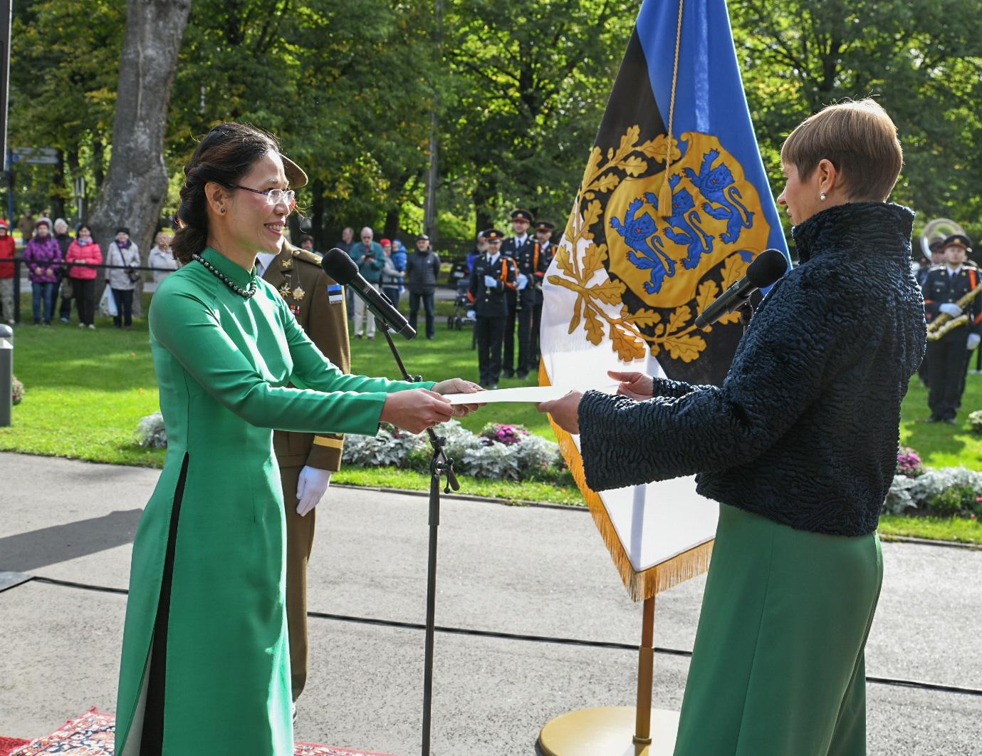 Tổng thống Estonia tin tưởng quan hệ hữu nghị với Việt Nam tiếp tục được tăng cường
