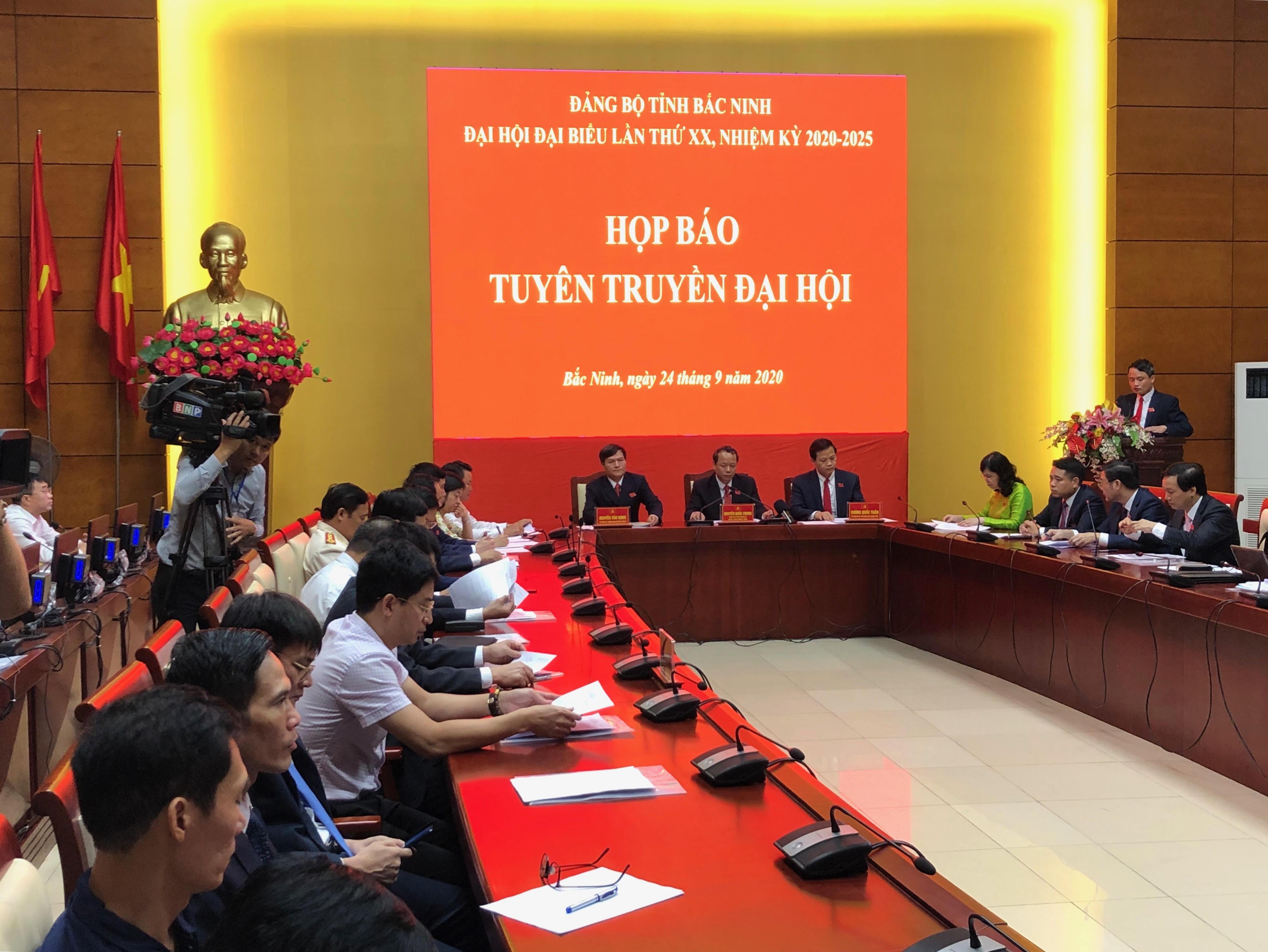 Đại hội đại biểu Đảng bộ tỉnh Bắc Ninh lần thứ XX diễn ra từ ngày 24-26 9