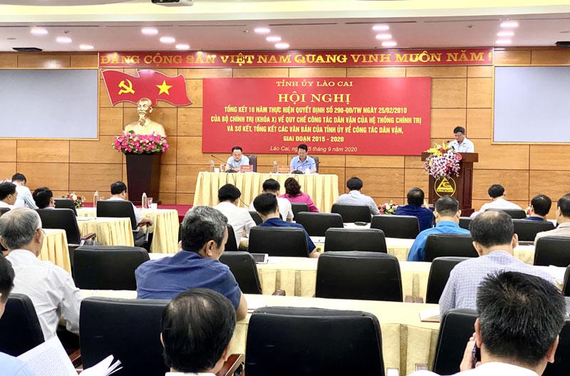 Lào Cai Nâng cao hiệu quả công tác dân vận trong tình hình mới