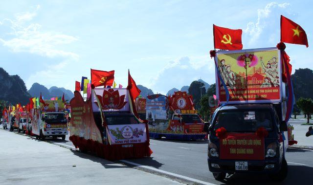 Hội thi xe tuyên truyền cổ động chào mừng Đại hội Đảng bộ tỉnh Quảng Ninh