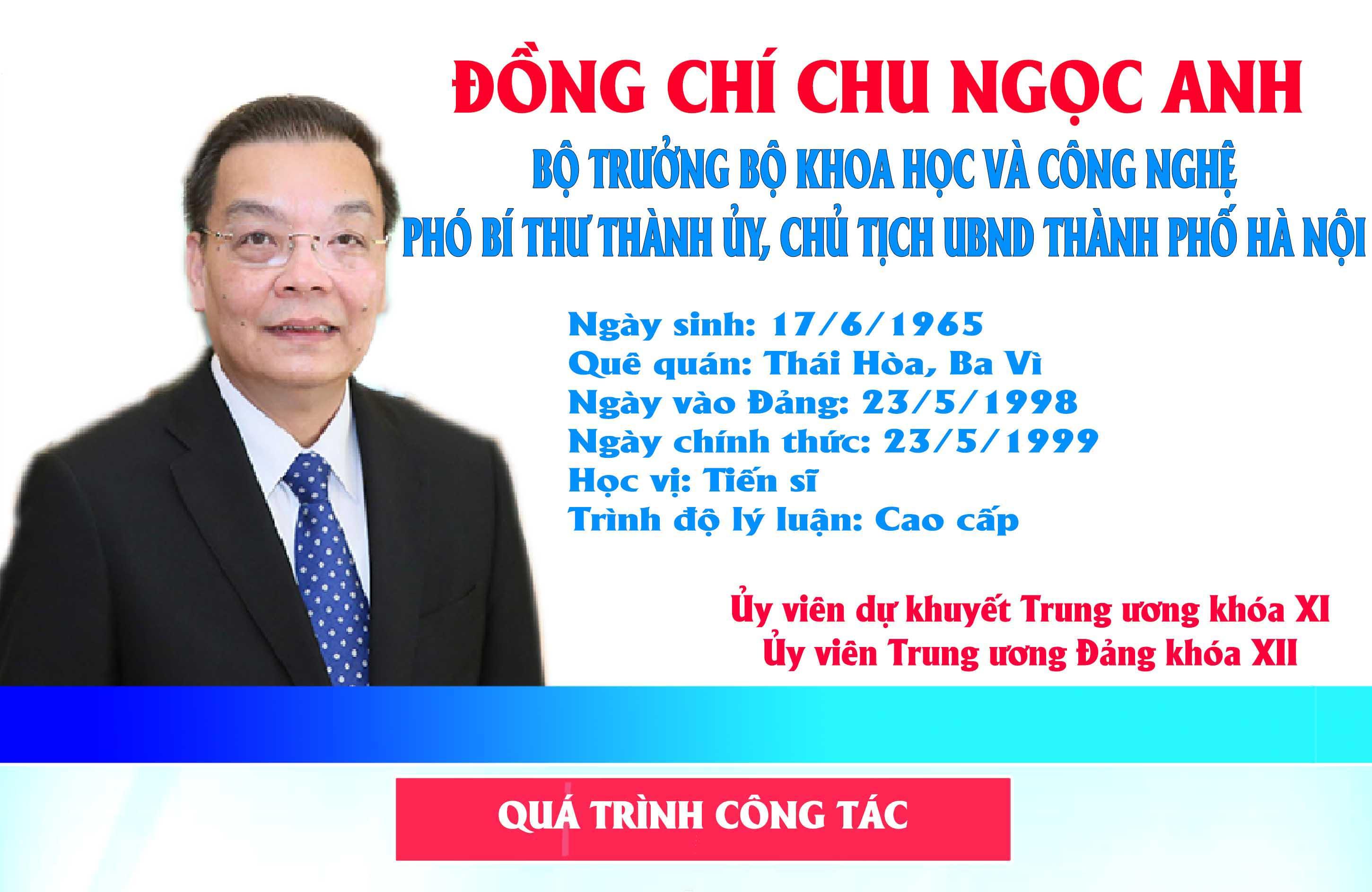 [Infographic] Chân dung tân Chủ tịch UBND TP Hà Nội Chu Ngọc Anh