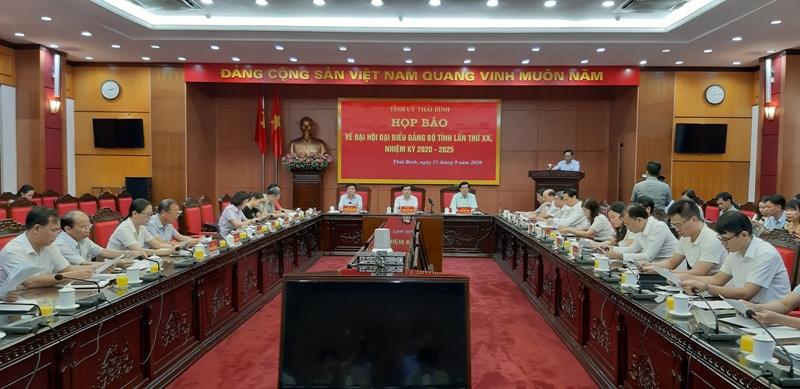 Đại hội đại biểu Đảng bộ tỉnh Thái Bình lần thứ XX sẽ diễn ra từ ngày 13 - 15 10