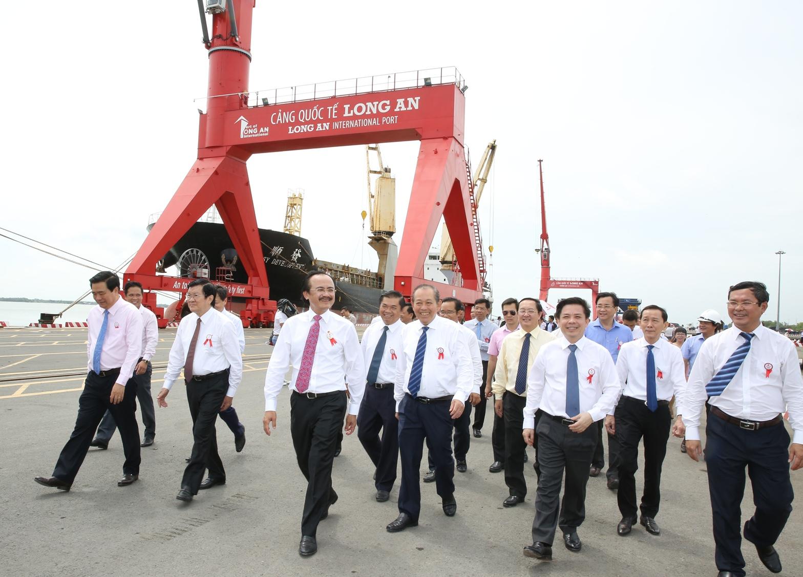 Khánh thành giai đoạn 1 Cảng Quốc tế Long An