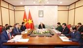 Tổng Bí thư, Chủ tịch nước Nguyễn Phú Trọng và Tổng Bí thư, Chủ tịch Trung Quốc Tập Cận Bình điện đàm