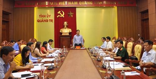 Quảng Trị tiếp tục rà soát công tác chuẩn bị Đại hội đại biểu Đảng bộ tỉnh lần thứ XVII