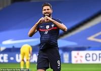 Giroud lập kỷ lục mới tại đội tuyển Pháp