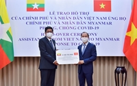 Việt Nam sẽ hỗ trợ đợt 2 vật tư y tế, góp phần giúp Mi-an-ma vượt qua đại dịch COVID-19