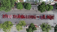 Đoàn viên, thanh niên Thủ đô tham gia xếp chữ 1010 năm Thăng Long - Hà Nội