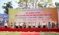 Đồng chí Trần Quốc Vượng dự khởi công Bảo tàng Tân Trào