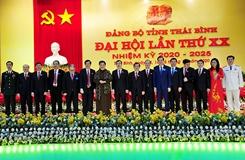 Khai mạc trọng thể Đại hội đại biểu Đảng bộ tỉnh Thái Bình lần thứ XX,