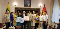 Trao hàng vật tư y tế của Chính phủ Việt Nam hỗ trợ Myanmar