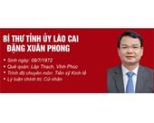 Infographic Chân dung tân Bí thư Tỉnh ủy Lào Cai Đặng Xuân Phong