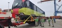 Đoàn tàu của tuyến metro số 3 của Hà Nôi, đã cập cảng Hải Phòng