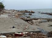 Nam Định Sạt lở bờ kè khu du lịch biển do sóng to, gió lớn