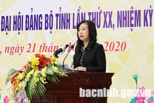 Bắc Ninh phấn đấu thực hiện tốt Nghị quyết Đại hội Đảng bộ tỉnh lần thứ XX