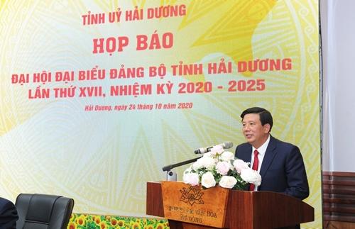 Đại hội Đảng bộ tỉnh Hải Dương diễn ra từ ngày từ 25 đến 27 10