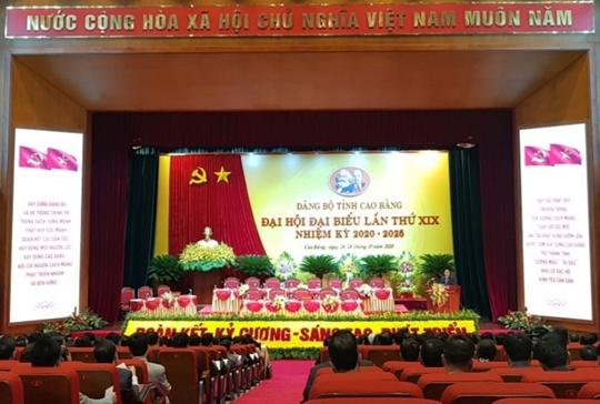 350 đại biểu dự Đại hội Đảng bộ tỉnh Cao Bằng lần thứ XIX