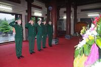 Dâng hương tưởng niệm liệt sĩ tại khu di tích lịch sử Truông Bồn