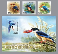 Phát hành bộ tem bưu chính góp phần bảo tồn loài chim bói cá