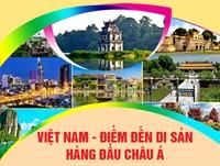 """Infographic Việt Nam - """"Điểm đến di sản hàng đầu châu Á"""""""