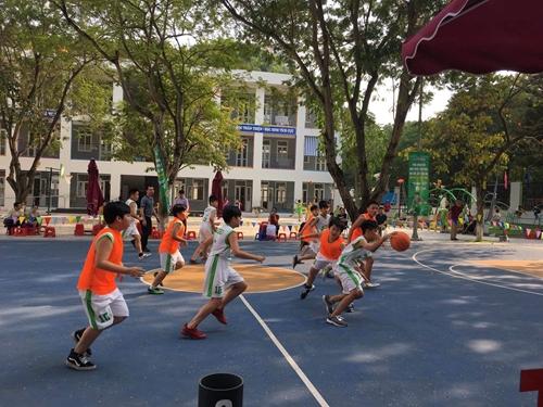 123 đội tham dự Giải bóng rổ học sinh tiểu học Hà Nội
