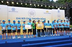 Sôi nổi Giải Bơi chải thuyền rồng Hà Nội mở rộng