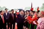 Phó Thủ tướng Trịnh Đình Dũng dự Ngày hội Đại đoàn kết tại Vĩnh Phúc