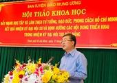 Việc học tập và làm theo tư tưởng, đạo đức, phong cách Hồ Chí Minh ngày càng thực chất