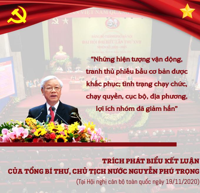 Infographic: Phát biểu của Tổng Bí thư, Chủ tịch nước tại Hội nghị cán bộ toàn quốc