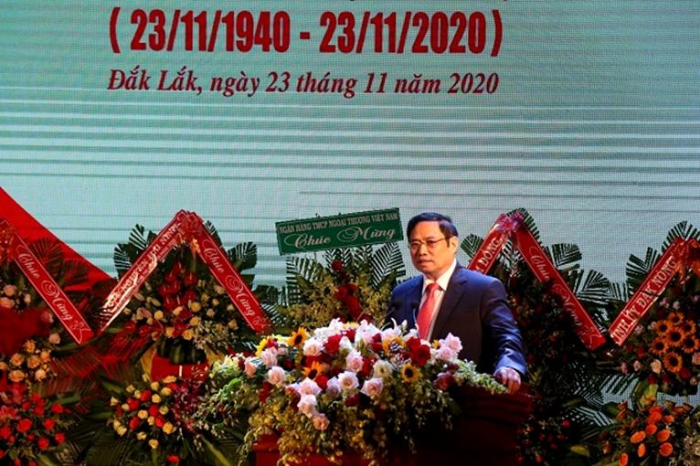 Đồng chí Phạm Minh Chính dự Lễ kỷ niệm 80 năm Ngày thành lập Đảng bộ tỉnh Đắk Lắk