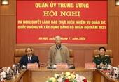 Tổng Bí thư, Chủ tịch nước Nguyễn Phú Trọng chủ trì Hội nghị của Quân ủy Trung ương