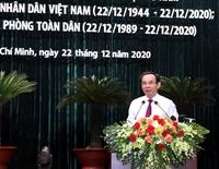 TP Hồ Chí Minh gặp mặt cán bộ cao cấp Quân đội nghỉ hưu
