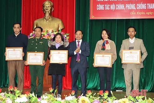 Cẩm Xuyên Hà Tĩnh chú trọng công tác kiểm tra, giám sát