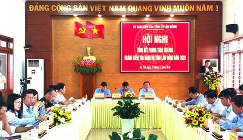 Lâm Đồng Ngành Kiểm tra Đảng thi đua thực hiện tốt nhiệm vụ năm 2020