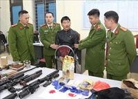 Thu giữ số lượng lớn ma túy và vũ khí quân dụng