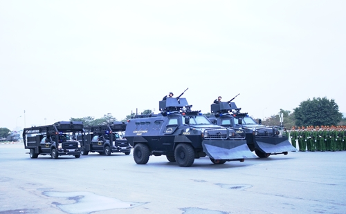 Hình ảnh Lễ xuất quân diễn tập phương án bảo vệ Đại hội Đảng lần thứ XIII