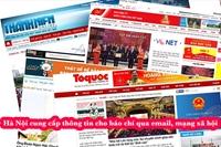 Hà Nội cung cấp thông tin cho báo chí qua email, mạng xã hội