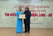 """Trao giải Cuộc thi trực tuyến """"Tìm hiểu 1010 năm Thăng Long - Hà Nội"""""""