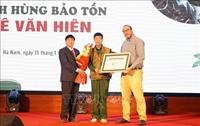 Việt Nam có thêm một cá nhân được vinh danh Anh hùng bảo tồn