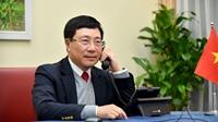 Phó Thủ tướng, Bộ trưởng Ngoại giao Phạm Bình Minh điện đàm với Cố vấn An ninh quốc gia Hoa Kỳ