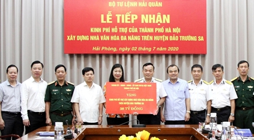 """Hà Nội Quyên góp ủng hộ Quỹ """"Vì biển, đảo Việt Nam"""