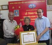 TP Hồ Chí Minh trao Huy hiệu Đảng cho 2 336 đảng viên