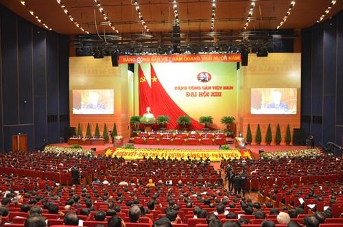 Thông cáo báo chí về ngày làm việc thứ hai Đại hội XIII của Đảng
