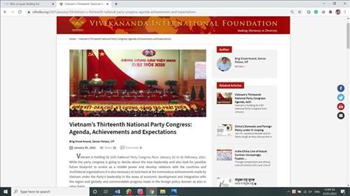 Việt Nam đóng vai trò quốc tế quan trọng tại các diễn đàn toàn cầu