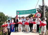 NHCSXH tỉnh Quảng Nam xây cầu giúp người dân Sóc Trăng