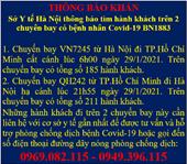 Hà Nội khẩn tìm 400 người đi cùng máy bay với BN1883 nhiễm COVID-19