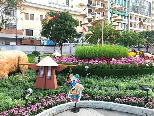Từ ngày 10 2, người dân và du khách sẽ được tham quan Đường hoa Nguyễn Huệ