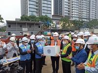 Chủ tịch UBND TP Hà Nội thăm, chúc Tết tại dự án đường sắt đô thị Hà Nội