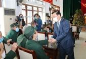 Ủy viên Bộ Chính trị, Bộ trưởng Bộ Tài chính Đinh Tiến Dũng thăm, chúc Tết Trung tâm điều dưỡng thương binh Nho Quan